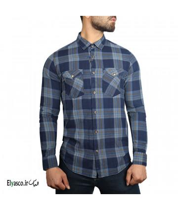 پیراهن مردانه چهارخانه طرح جین کوک 1490