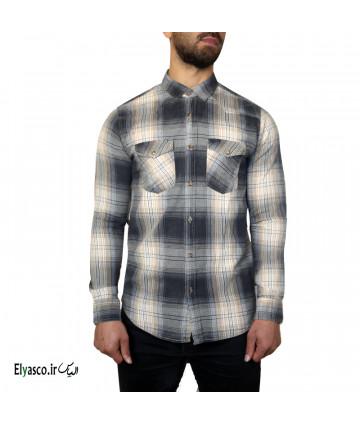 پیراهن مردانه چهارخانه طرح جین ریورساید 1442